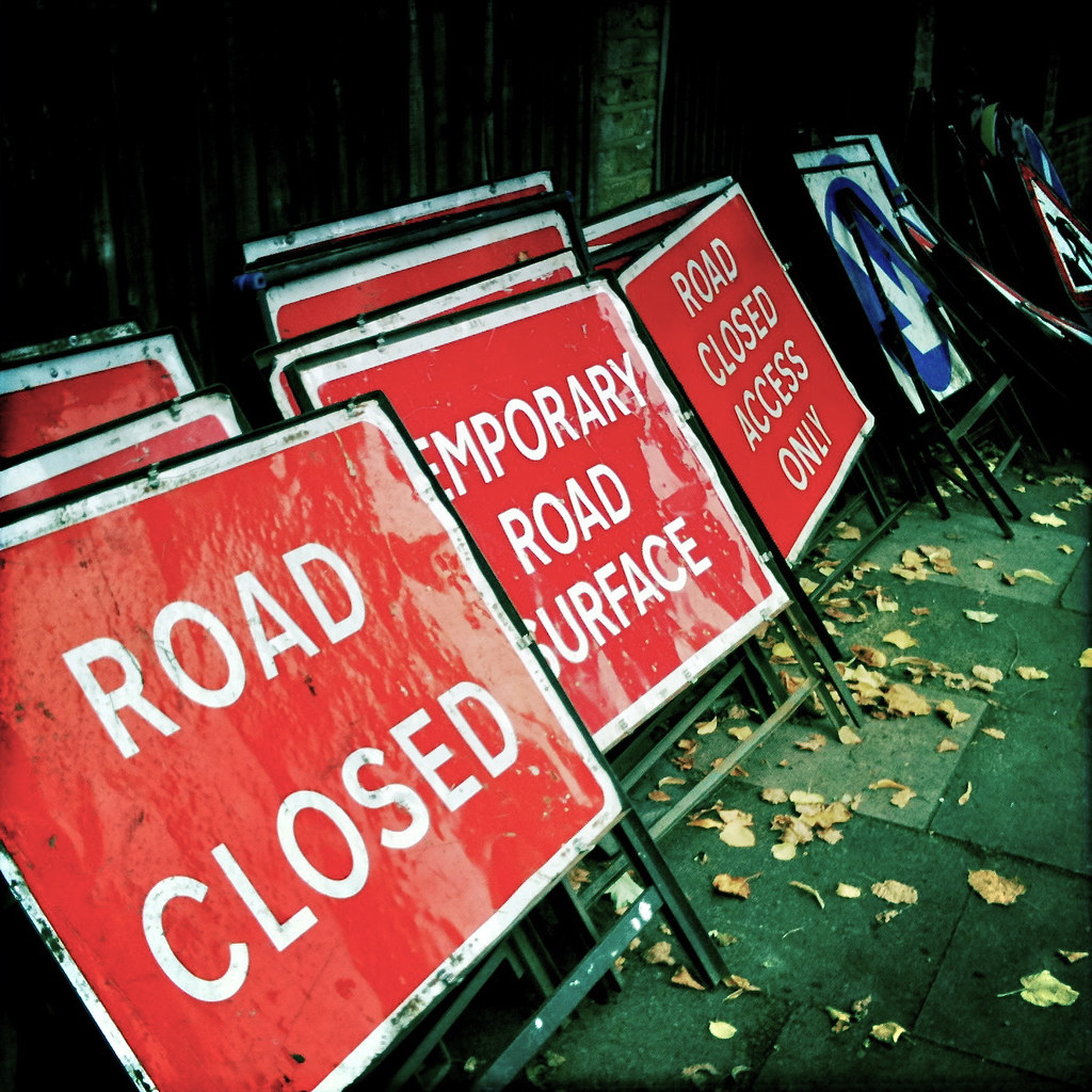 Impending road closure