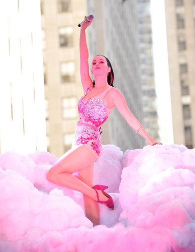 Katy Perry performs on NBCs Today in Rockefeller Center on August 27, 2010 in New York City.