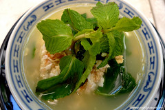 PureGlutton - Eggs and Mint Leaves Soup