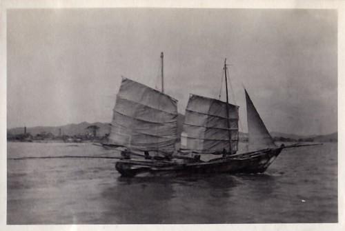 japan oldjapan vintagephotosofjapan prewarjapan vintagejapanesesailboat