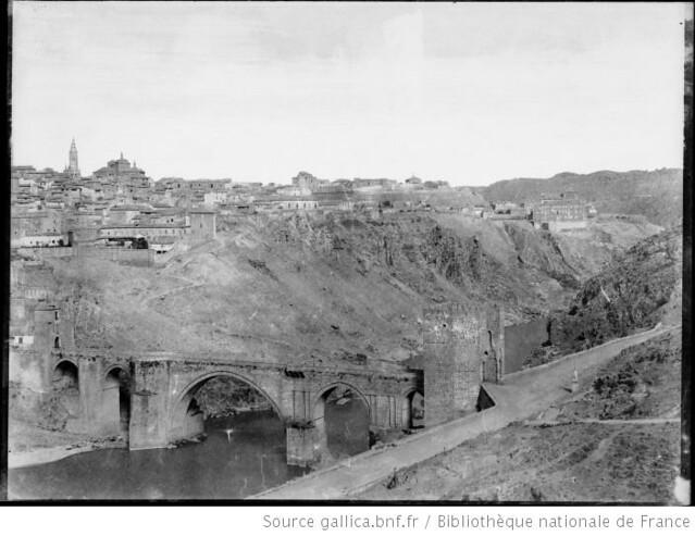 Vista general de Toledo desde el Oeste en 1858. Fotografía de Gustave de Beaucorps. Biblioteca Nacional de Francia
