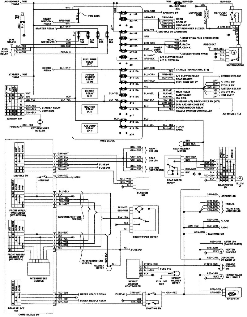Radio Wiring Schematic For 1993 Isuzu Trooper Diagram Data Jeep Cherokee Stereo 93 1998 Rodeo Online
