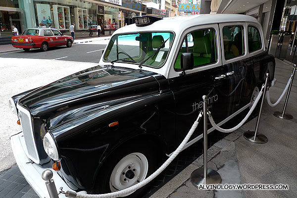 A quirky vintage car belonging to The Mira Hotel, constantly parked out front