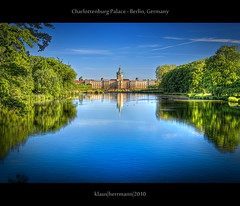 Charlottenburg Palace - Berlin, Germany (HDR) (farbspiel) Tags: travel blue sea plants lake colour reflection berlin green tourism water colors sunshine yellow photoshop germany landscape geotagged photography see pond flora nikon colorful wasser colours pflanzen bluesky palace journey blended colourful grn nikkor teich landschaft dri blauerhimmel deu hdr highdynamicrange charlottenburg farben blend sonnenschein niceweather postprocessing tmpel dynamicrangeincrease 18200mm d90 schneswetter photomatix digitalblending tonemapped tonemapping farbenpracht charlottenburgnord detailenhancer topazadjust topazdenoise klausherrmann topazsoftware topazphotoshopbundle nikonafsdxnikkor18200mm13556gedvr geo:lon=1329481959 geo:lat=5252642434
