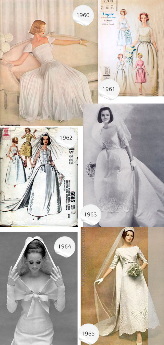 1960-1965 wedding dresses