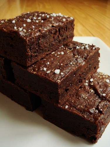 Sweet & Salty Brownies: Stacked