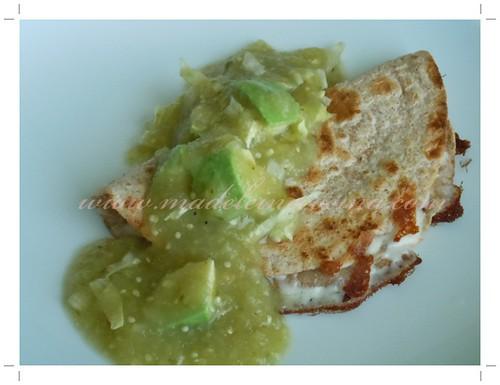 Salsa verde con quesadilla