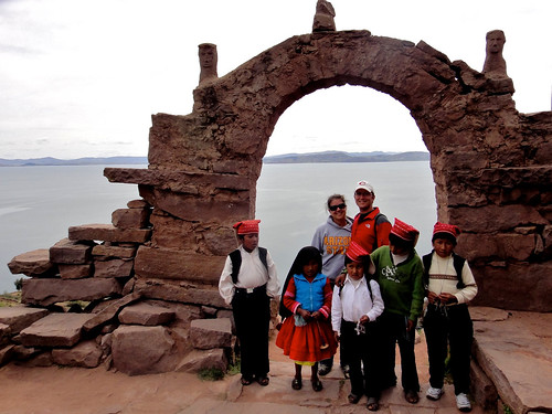 Wendy & Dusty on Taquile Island on Lake Titicaca