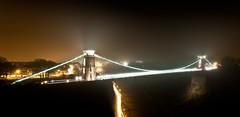 Clifton Suspension Bridge in the Mist (Simon Pow) Tags: longexposure fog night bristol cliftonsuspensionbridge brunel lighttrail avongorge