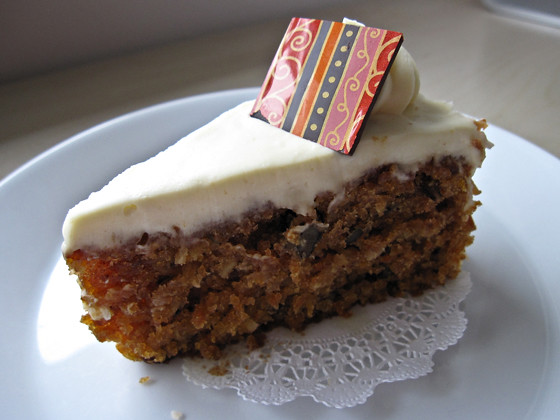 Carrot Cake from take-out café