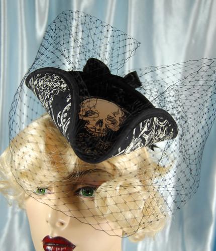 Skully Tricorn Hat, Noxenlux Chapeaux