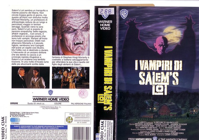 A RETURN TO SALEMS LOT (VHS Box Art)