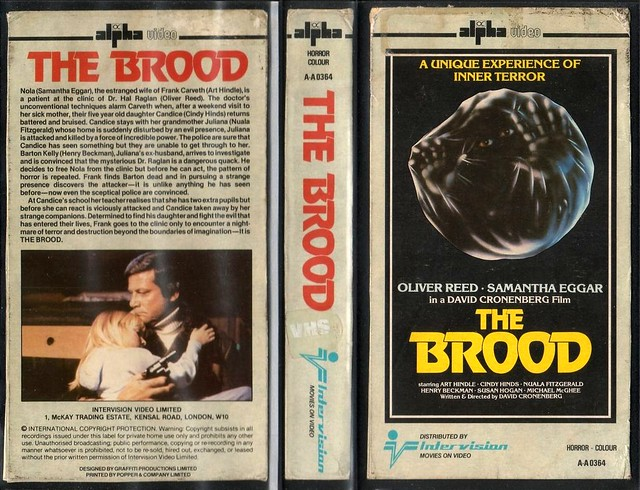 THE BROOD (VHS Box Art)