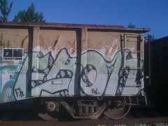 (RealestForreal) Tags: train graffiti freight graffititrain graffitifreight