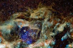 Deep Space 32 - Wolf's Head Nebula (mtnrockdhh) Tags: light water glass experimental led nebula deepspace waterworld starformingregion hullbull