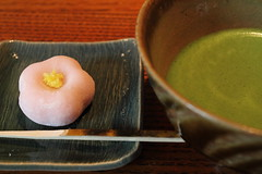 Sweets (Teruhide Tomori) Tags: travel japan kyoto tea traditional   nippon greentea teahouse maccha wagashi    explored