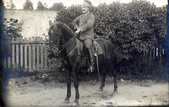 May I please borrow your tschapka? ( drakegoodman ) Tags: horse soldier helmet moustache sabre sword worldwarone ww1 nco greatwar firstworldwar cavalry corporal worldwar1 germanarmy germansoldier rppc feldpost artilleryman troddel