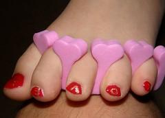 Hearts, Love, & rose Valentine nails (pacheweychomp) Tags: red love rose hearts gold polish valentine nails valentinesday varnish