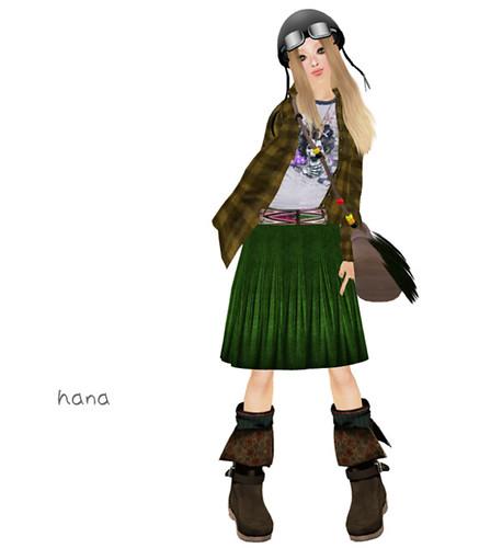 :pesca:cotton knit skirt green
