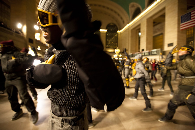 Moncler NYFW Flashmob at Grand Central, NYC