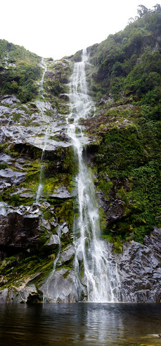 Milford Track, Waterfall
