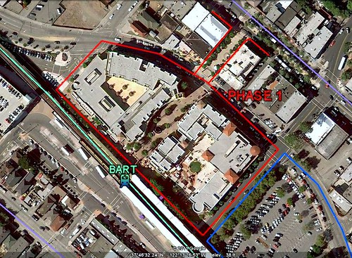 Fruitvale Transit Village & BART station (via Google Earth)