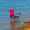 Good Old Summertime (redhorse5.0) Tags: chair water lake summertime redchair swimming bluewater redhorse50 sonya850 foldingchair