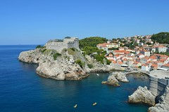 Dubrovnik: Fort Lovrijenac, Fort Bokar and the west harbour (Valerio_D) Tags: dubrovnik ragusa croazia hrvatska croatia dalmazia dalmatia dalmacija 2016estate 1001nights 1001nightsmagiccity