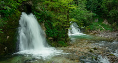 The Waterfall Brothers (MuckeInPivo) Tags: water waterfall energy falling green white blue rocks nature beautiful lovely serene serenity peace peaceful leaves trees plants