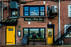 Bistro + Wine Bar (Rabican7) Tags: bricks building architecture newhampshire newengland portsmouth colors door windows bar bistro