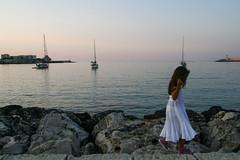Peace... (Maluni) Tags: italia italy puglia apulia otranto sea mare water sunset tramonto peace