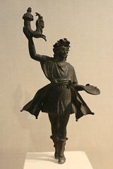 Bronze statuette of a Lar (BrassIvyDesigns) Tags: bronze ancient roman lar artifact household deity metropolitanmuseumofart statuette