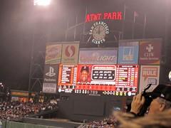 Foggy Scoreboard
