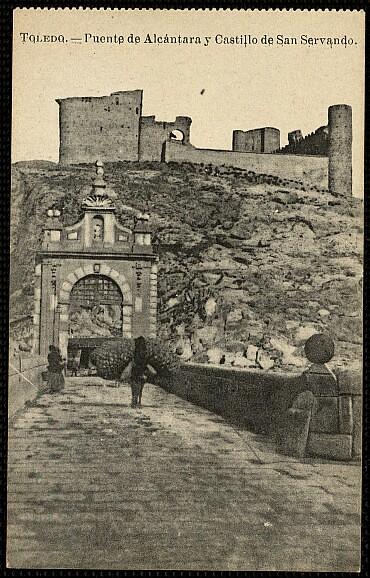 Castillo de San Servando a inicios del siglo XX. Foto Roig