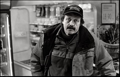 Grocery shopping... (Hedstrom - Sweden) Tags: life portrait bw village documentary