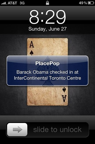 Is the White House using PlacePop to check-in?