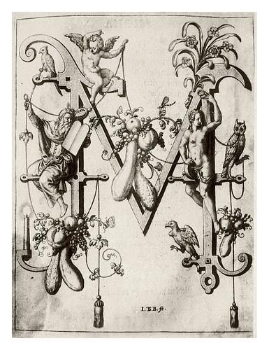013-Letra M-Moisés-Neiw Kunstliches Alphabet 1595- Johann Theodor de Bry
