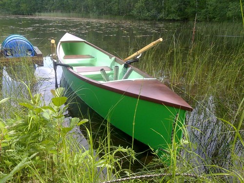 Quick Canoe converted to a Rowboat/Fishing boat in Finland.