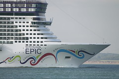 NORWEGIAN EPIC (John Ambler) Tags: cruise sign freestyle call cruising line norwegian epic imo mmsi freestylecruising norwegianepic c6xp7 9410569 311018500