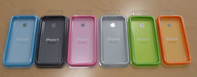 Thumb Colores de Apple Bumpers para el iPhone 4