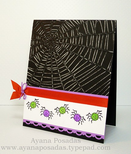 Halloween Card- Spiders (3)