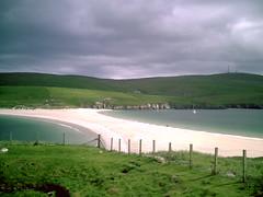 Blick von St. Ninians-Island zum Mainland
