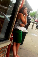 Drunk Woman smoking a cigarette in Northwest, IL suburbs (A Nu Life) Tags: woman cigarette smoking