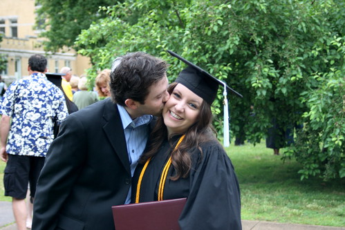 Kiss the graduate