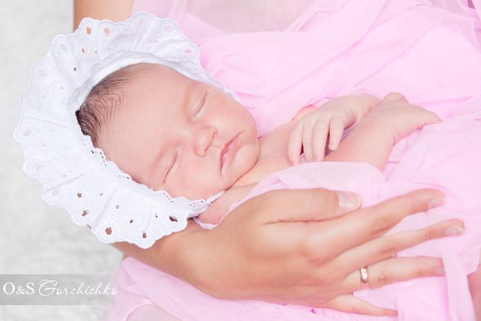 Фотографирование новорожденных в Гродно. 10-дневная красавица Машенька
