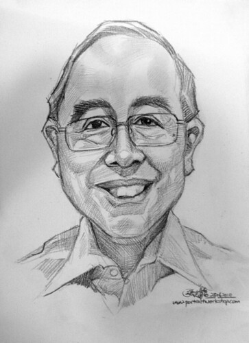 Portrait & caricature live sketching for Citigold Private Client 23 June 2010 - 2