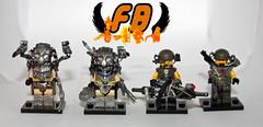 Updated Group Shot (Brick Mercenaries Custom Minifigures) Tags: fiction smart gun lego alien colonial science aliens scifi marines predator gunner predators smartgun smartgunner