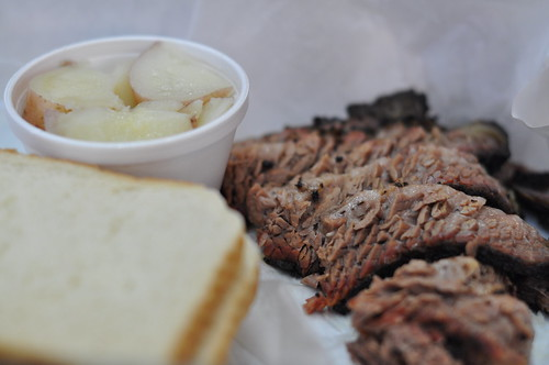 Moist Beef Brisket and New Potatoes at Rudy's Bar-B-Que ~ Austin, TX