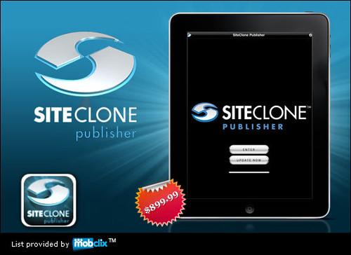 Siteclone iPad app