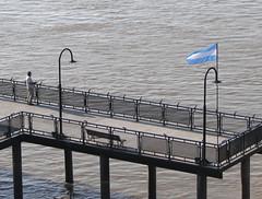 Se fue a pescar junto a ella. (Oscmag) Tags: argentina rio muelle rosario parana pescador bardera parqueespaña rioparana oscmag oscarmagistris